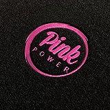 Autoteppich-Stylers ATSQ100PP000530 Passform Fußmatten mit Stick Pink Power (Ladies Edition) in Pink und Rand in Pink