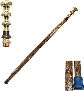 Eve Store Nauticals Handgemaakte Indian Walking Stick - Houten Rietjes en Walking Stickfor Mannen - Wandelstok met messing...