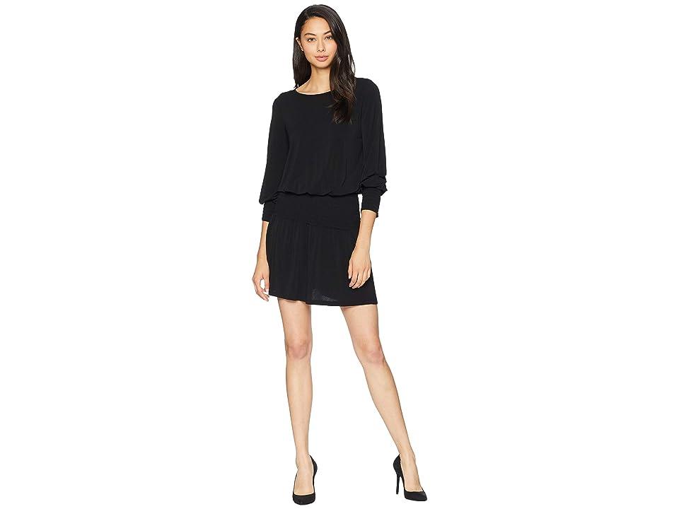 kensie Slinky Knit Dress (Black) Women