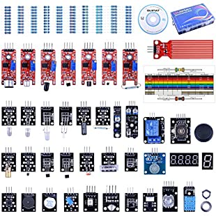 Quimat 39 in 1 Sensor Module Kit with PDF Tutorial,The Starter Kit Robot Projects for Arduino UNO R3 Raspberry Pi 3 2 Mega Due Nano Arduino Programming