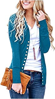 neveraway Women's Long-Sleeve Button Down Solid Basic Sweaters Cardigan Coat