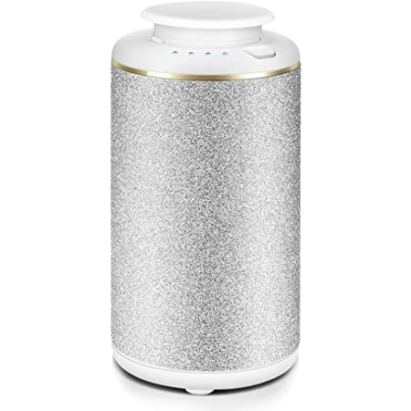 Essential Oil Diffuser Waterless,Wireless Car Diffuser USB Battery Operated,Portable Aromatherapy Oil Diffusers White,Cordless 10ml Mini Aroma Diffuser for Car,Office,Travel,Yoga