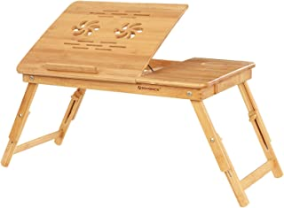 SONGMICS Lapdesk Table Breakfast Trays with Adjustable Leg Serving Bed Tray ULLD001