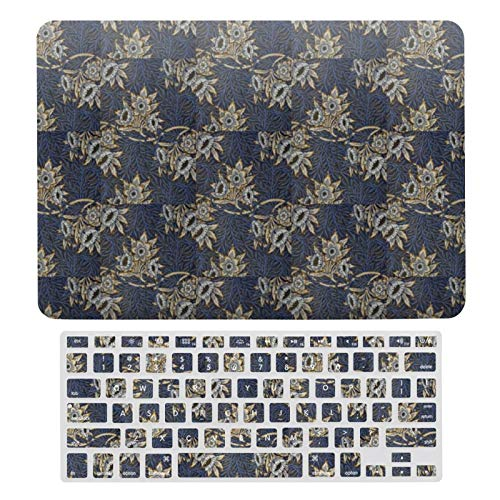 For MacBook Air 13 13 Inch Case A1466、A1369 Hard Shell Cover for MacBook Air 13 Case & Keyboard Cover, Vintage William Morris Tulip And Willow Laptop Protective Shell Set