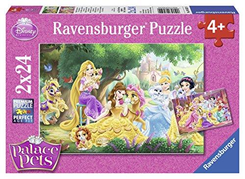 Ravensburger Kinderpuzzle 08952 - Beste Freunde der Prinzessinnen - 2 x 24 Teile