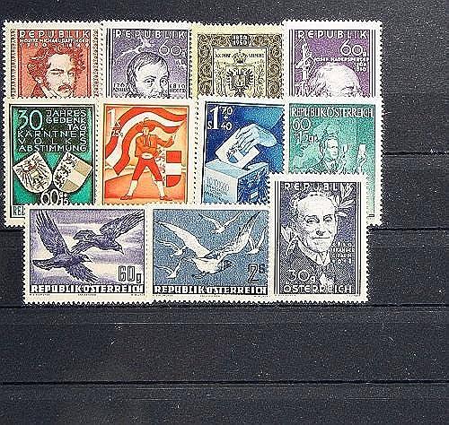 Goldhahn  erreich 1950 postfrisch  Nr. 948-958 Briefürken für Sammler