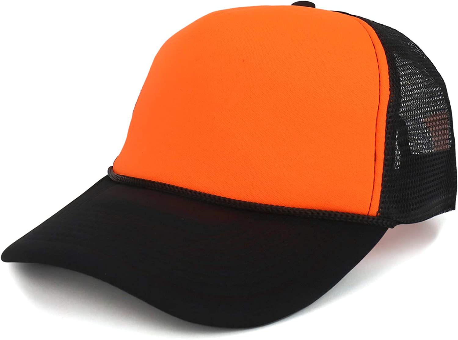 Armycrew Two Tone Neon High Visibility Foam Trucker Mesh Back Cap