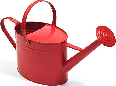 Ashman Red Watering Can for Outdoor and Indoor Plant Watering Use with 3.75 Litre Capacity.