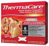 THERMACARE Parche Térmico Terapéutico - 3 parches - Adaptable a Cualquier Parte del Cuerpo - Alivio Prolongado del Dolor Hasta 8 Horas - Sin Medicamentos