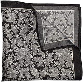 The Grey Paisley Silk Pocket Square