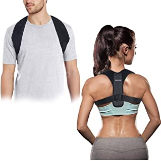 SGUTEN Back Posture Corrector for Men & Women Upper Back Brace for Clavical Support,Effective and Comfortable Back Support,Hold Back Straight and Provide Pain Relief.