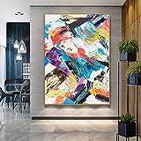 YuanMinglu Paisaje Abstracto Pintura al óleo Lienzo Arte de la Pared decoración Pintura al óleo Pintura Pintura sin Marco 30x50cm