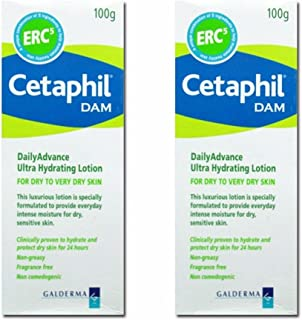 Cetaphil DAM Daily Advance Ultra Hydrating Lotion 2 x 100 gm (Pack of 2)