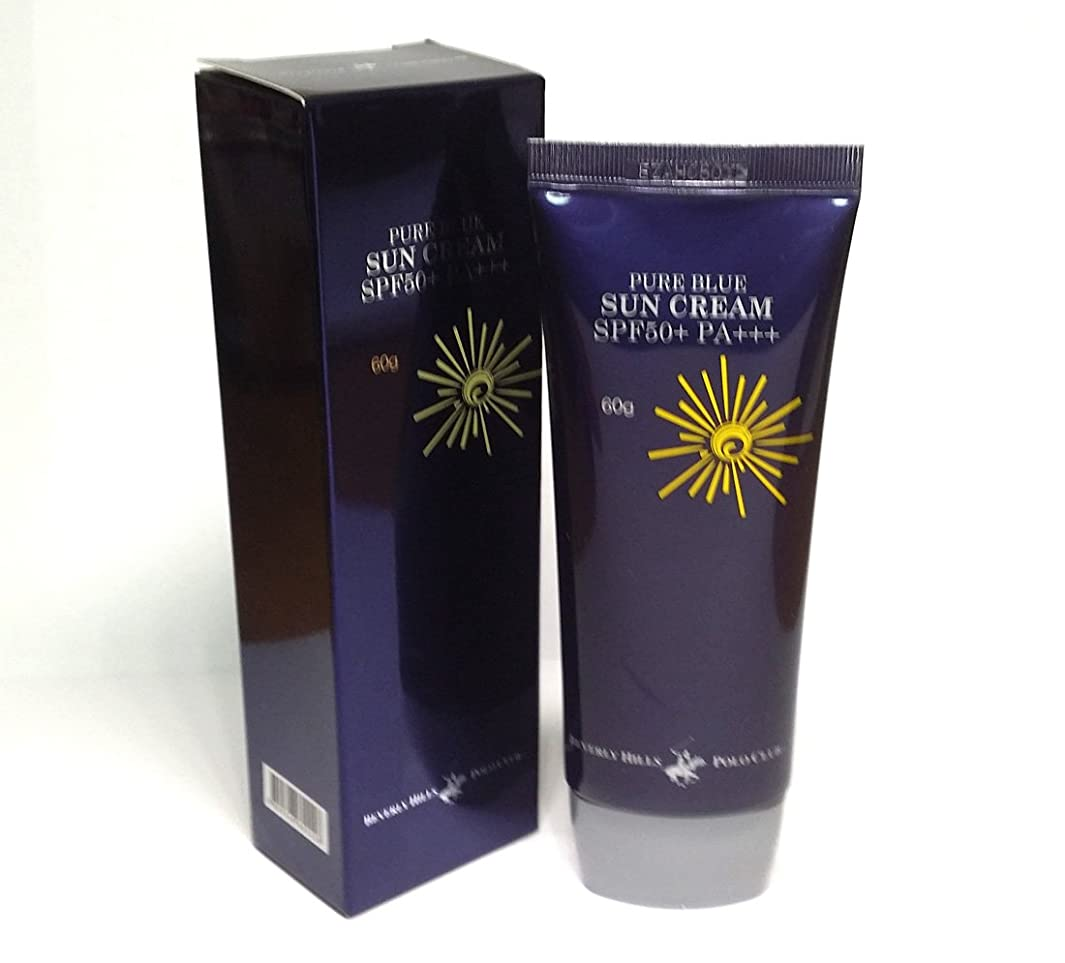長老悲しむ資料[BEVERLY HILLS POLO CLUB] ピュアブルーサンクリームSPF50 + PA +++ 60g X 1ea / 韓国化粧品 / Pure Blue Sun Cream SPF50+ PA+++ 60g X 1ea / Korean Cosmetics [並行輸入品]