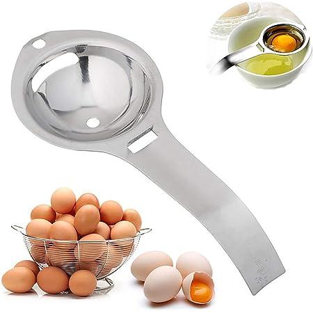 Separador de clara de huevo y yema de huevo, material de acero inoxidable 304 de grado alimenticio saludable y seguro. adecuado para cocinar en la ...