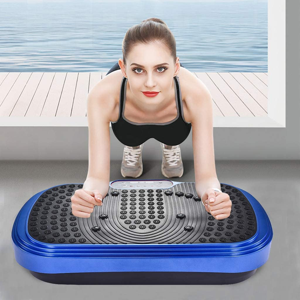 Home Training Equipment for Weight Loss /& Toning Becoler Vibration Machine Loash Angwen Whole Body Workout Vibration Plate Exercise Machine Fitness Platform Training Weight Capacity 330 Pounds