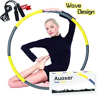Auoxer Fitness Exercise Weighted Hoola Hoop, Lose Weight Fast by Fun Way to Workout, Fat Burning Healthy Model Sports Life, Detachable and Size Adjustable Design