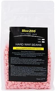 BlueZOO 17.6 oz/500g Brazilian Hard Wax Beads Depilatory Solid Hot Film Waxing Pellets for Body Bikini Hair Removal Rose