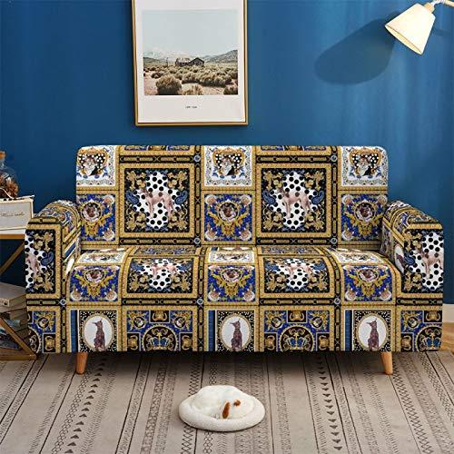 Funda De Sofá Elástica Antideslizante para Coche Abstracto Cuatro Estaciones Funda De Sofá con Todo Incluido Universal Diseño 3D Funda De Sofá Elástica Antideslizante