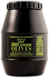 Roland Foods Pitted Baby Kalamata Olives from Greece, 4 Lbs 6 Oz