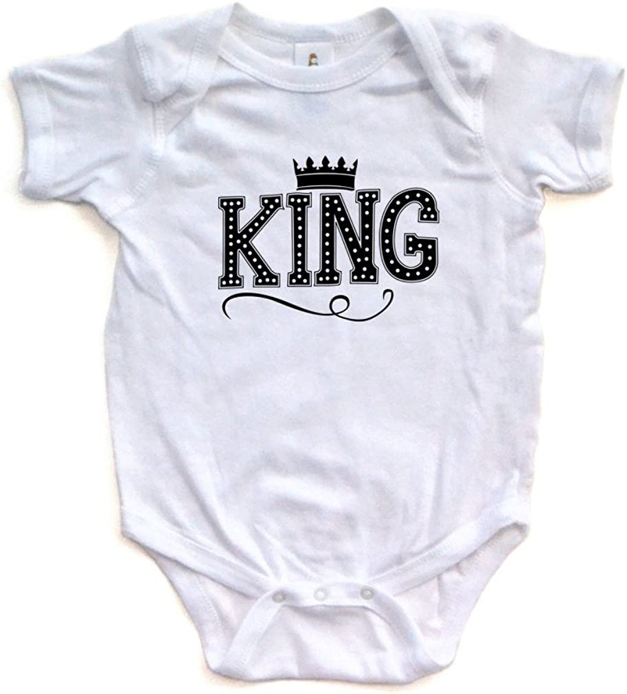 Apericots Cute King Baby Boy Bodysuit Soft Crown Super C Translated shopping with On