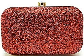 Tooba Women's Clutch (Gold_Red)