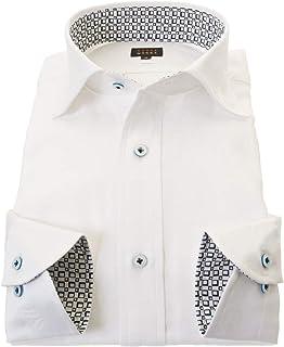 ワイシャツ 長袖 ドレスシャツ 国産 綿 100%派手シャツ 柄シャツ メンズ|RWD200-011