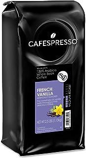 CAFESPRESSO French Vanilla Whole Bean Coffee, Medium Roast, 2.5 Lb Bag, 2.5 Lb