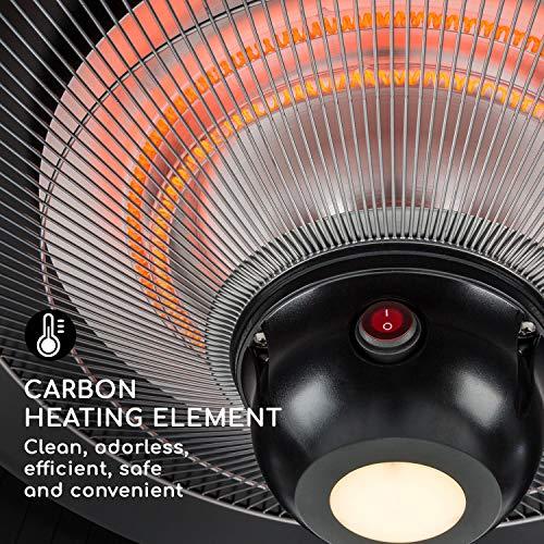 blumfeldt Venice Heat Terrassenheizstrahler • Infrarot-Heizstrahler • 800/1000/1800 W • Carbon-Heizelement • ComfortHeat • Easy Control • Aufhängemechanismus • Außengebrauch • Fernbedienung • Schwarz - 7