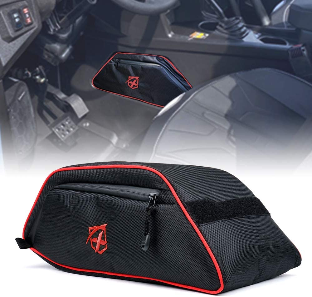 Xprite Center Console Storage Bag with Red Lining for Polaris General 4 1000 2016 2017 2018 2019 2020 2021
