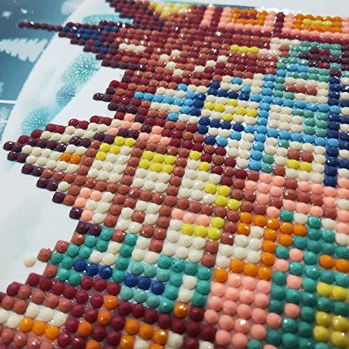 Navidad Diamante Pintura de dibujos animados Mini Santa Claus Feliz Navidad Arte de papel Postales Tarjeta de felicitación de Rubik's cube round diamond drill card Christmas card