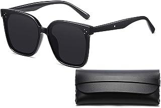 Classic Polarized Sunglasses for Men Women Retro 100% UV Protection Fashion Driving Sun Glasses, Black