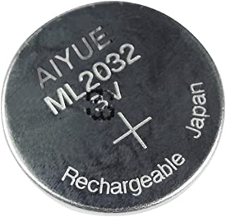 3V AIYUE ML2032 Rechargeable Battery Lithium Coin Cell Battery