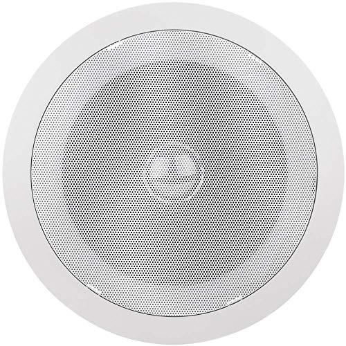 BeMatik - Altavoz de Techo Redondo de 10W 215 mm 6.5'