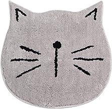 "ESUPPORT Soft Bath Mats Rugs Water Absorbent Microfiber Carpet Shower Bathroom Non Slip 23.6"" Cartoon Floor Mat, Gray Cat ..."
