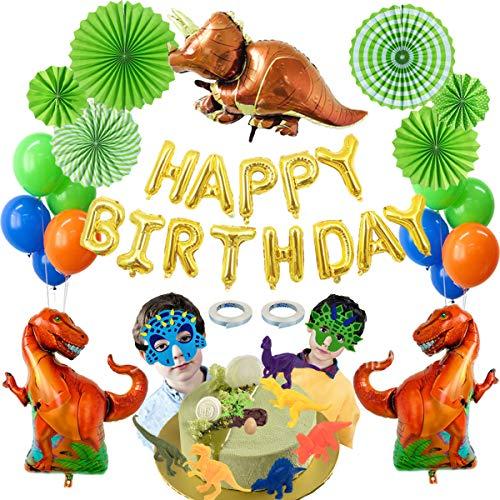 Decoraciones de Cumpleaños de Dinosaurio,Globos de Cumpleaños Dinosaurios,Suministros de Fiesta de Cumpleaños de Dinosaurio,Juego de Globos de Dinosaurio,para Niño Cumpleaños Baby Shower Decoración