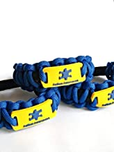 Autism Awareness ID Bracelet Medical Wristband Blue Or Pink Paracord Stretch For Kids Mom Dad Teacher's