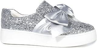 J. Adams Bow Platform Slip On - Trendy Flatform Shoes - Comfortable Closed Toe Sneakers - Wally