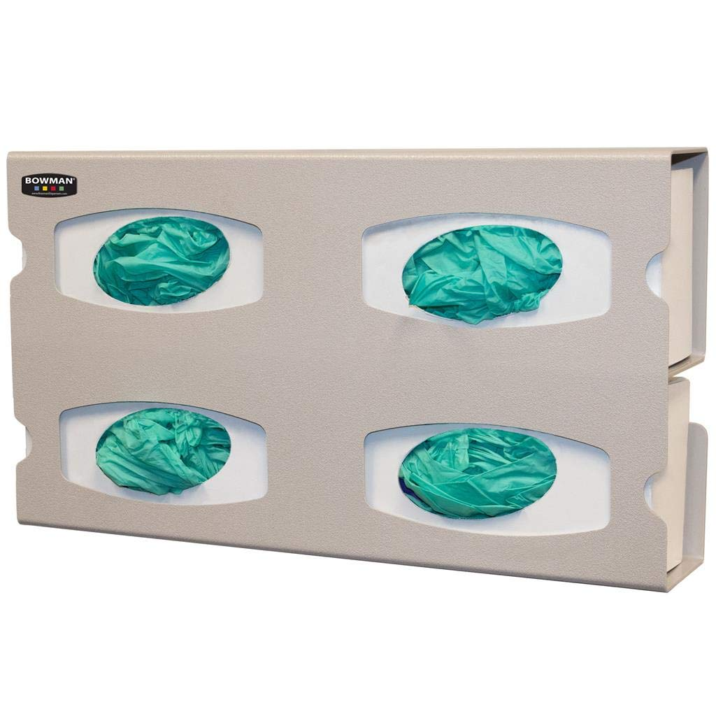Glove Box Dispenser - Quad Holds Side Latest Inexpensive item Gloves Load Boxes Four of