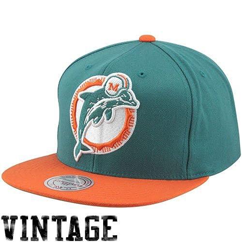 Miami Dolphins Big Logo Teal Orange Adjustable Snapback Hat   Cap 0ef38681e080