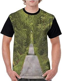 BlountDecor Loose T Shirt,Coffee Time Americano Fashion Personality Customization
