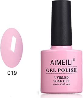 AIMEILI Soak Off UV LED Nude Pink Gel Nail Polish - Cake Pop (019) 10ml