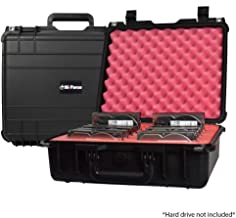 Drive Transporter Case L12 by SiForce. Rugged Case with Pink Anti-Static Foam for 12 Internal 3.5 inch HD Drives