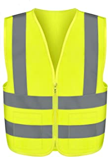 Neiko 53964A High Visibility Safety Vest with 2 Pockets, ANSI/ISEA Standard | Color Neon Yellow Size XXL