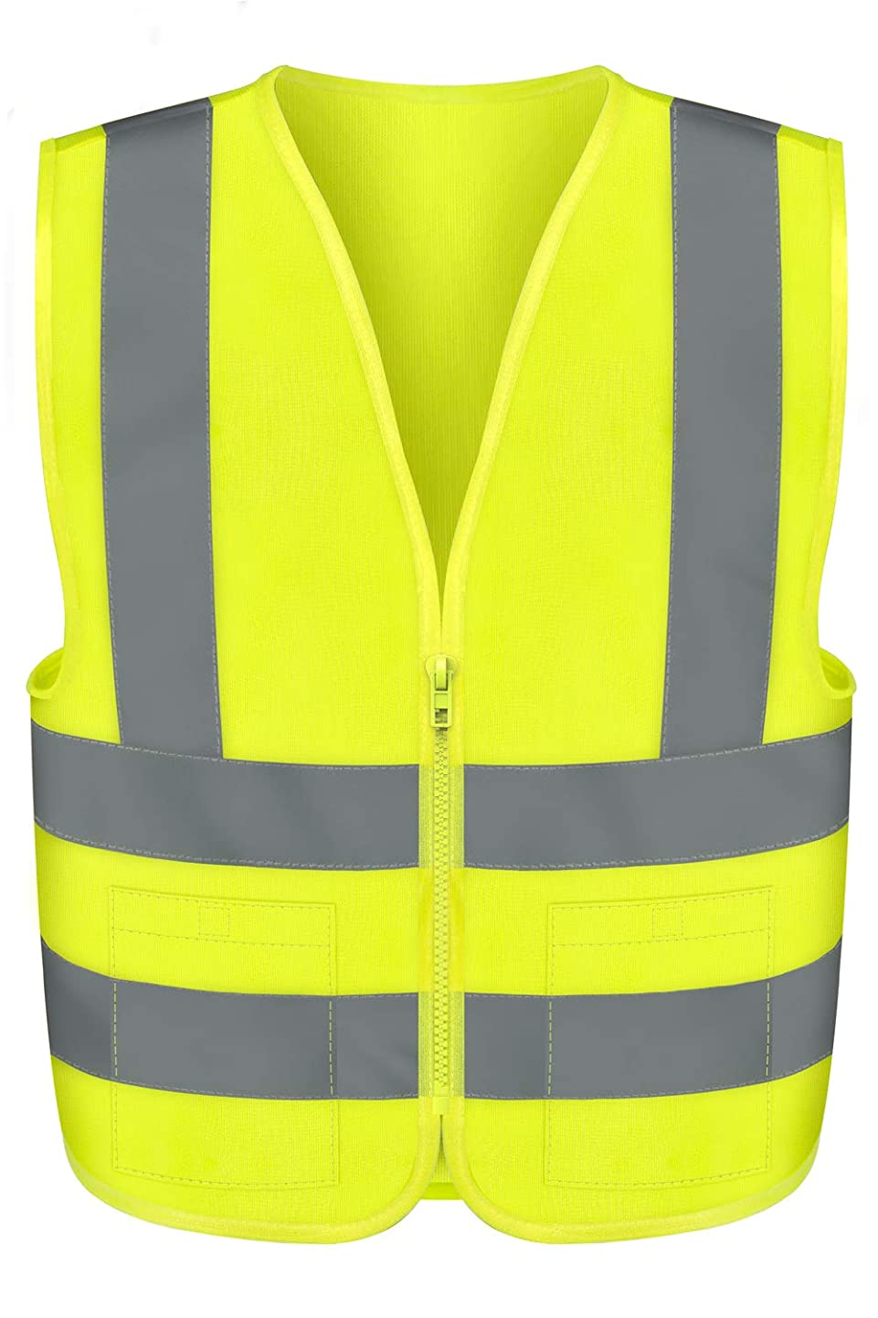 Neiko 53964A High Visibility SAFETY Vest with 2 Pockets, XX-Large, Neon Yellow afgntmxkpwm7