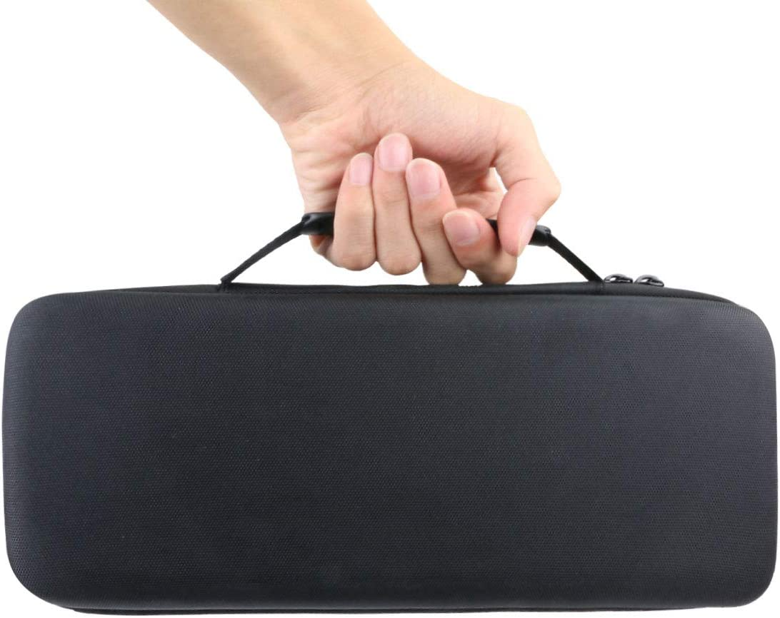 co2CREA Duro Viajar Caja Estuche Funda para Sony SRS-XB33 Altavoz Bluetooth Potente(Funda Solo) Caja Negra + Interior Azul