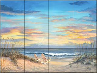 Ceramic Tile Mural - Front Row Seats- by Mary Lou Troutman - Kitchen backsplash/Bathroom shower
