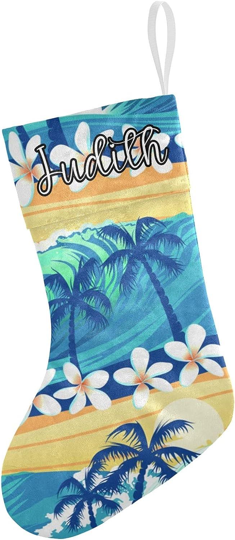 Grandkli Floral Palm Surf Custom Sale item Christmas Now free shipping Xm Stockings Hanging