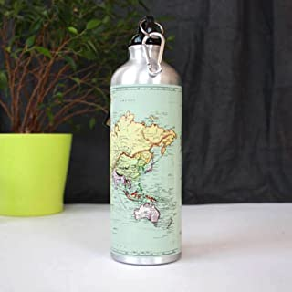 Man of the World Map Water Bottle