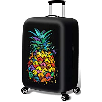 Luggage Protective Covers with Tropical Pineapple Washable Travel Luggage Cover 18-32 Inch